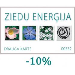 Ziedu enerģijas DRAUGA KARTE